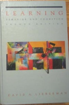 TEXTBOOK LEARNING PSYCHOLOGY BEHAVIOR AND COGNITION David A. Lieberman Incl ship
