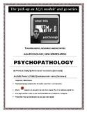 PSYCOPATHOLOGY Teaching notes