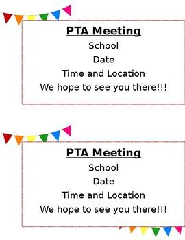 PTA Letter Reminder (Editable)