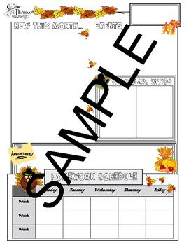 PTA November Newsletter Template