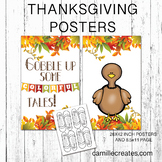PTA/PTO Thanksgiving Poster - Gobble Up Some Colorful Tales