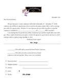 PTC Parent Teacher Conference Confirmation Letter 2011