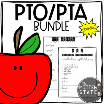 PTO / PTA Bundle {Get Organized} EDITABLE