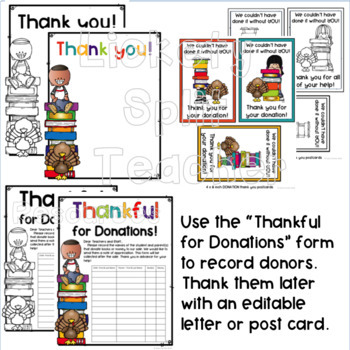 PTO PTA School Fundraiser Kit - Thankful for Books Thanksgiving Book Sale