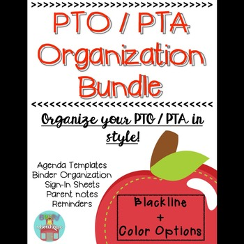 PTO / PTA Organization Binder [100% EDITABLE!]