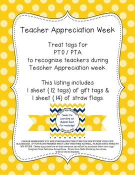 PTO / PTA Thirst for Knowledge Tag & Straw Flag