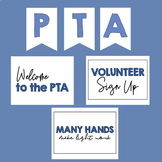 PTO | PTF | PTA | Banner and Meeting Signs