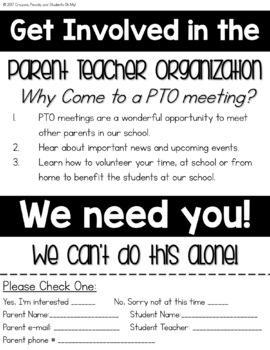 PTO / PTA Organizational Binder