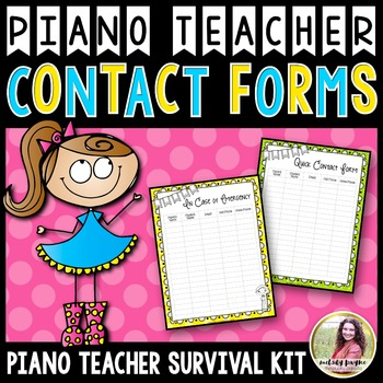 PTSK: Contact, Emergency, & Lesson Swap Forms