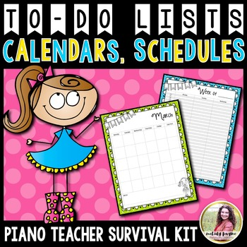 PTSK: Perpetual Calendars, Planner Pages, and To Do Pages