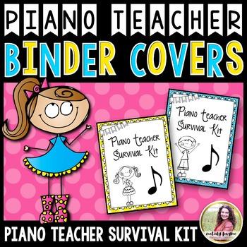 PTSK: Piano Teacher Survival Kit Binder Covers