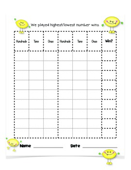 PUCKER UP!!! Place Value Game