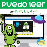 PUEDO LEER PALABRAS - READ AND CLICK IN SPANISH (BOOM CARDS)