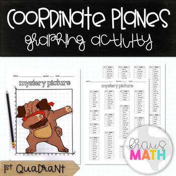 PUG DAB: Coordinate Plane Mystery Picture! (1st Quadrant)
