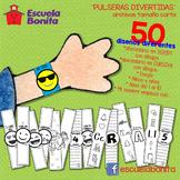 PULSERAS DIVERTIDAS!!  Pulseras con abecedario en español!