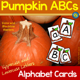 PUMPKIN ABCs: Alphabet Cards – Lowercase and Uppercase Letters