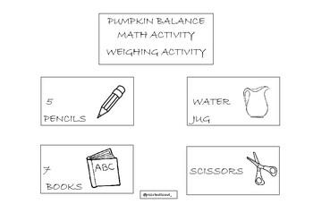 FREE! PUMPKIN BALANCE MATH ACTIVITY