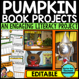 PUMPKIN CHARACTER PROJECT Halloween Activity OCTOBER BOOK REPORT editable