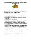 PUMPKIN Book Report: Read a Book, Present a Pumpkin as the Main Character!
