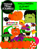HALLOWEEN CLIPART WITH 26 IMAGES {Texas Twist Scribbles}