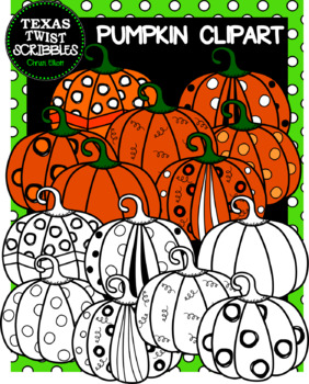 PUMPKIN CLIPART 14 images {Texas Twist Scribbles}