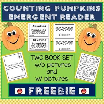 COUNTING PUMPKINS - EMERGENT READER FREEBIE