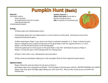 PUMPKIN HUNT: A grid game for fall