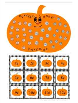 PUMPKIN MATH AND PUMPKIN SYLLABLE BINGO PACKET FOR LEVELS 1 AND 2