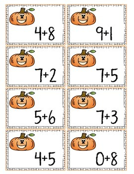 PUMPKIN MATH: Composing and Decomposing Numbers
