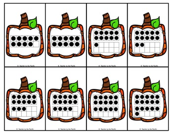 PUMPKIN Math Number Cards for Memory, Matching, Adding, and Comparing {BUNDLE}