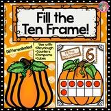 PUMPKIN Math Number/ Playdough Mats 1-10 - Fill the Ten Frame!