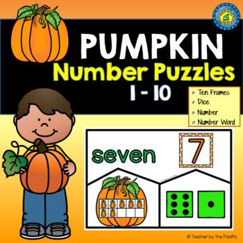 PUMPKIN Math Number Puzzles, 1 – 10