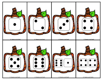 PUMPKIN Math Number and Dice Cards, 1 - 20