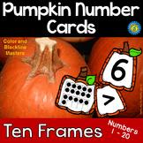 PUMPKIN Math Number and Ten Frame Cards, 1 - 20