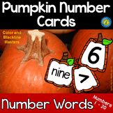 PUMPKIN Math Number and Number Word Cards, 1-20