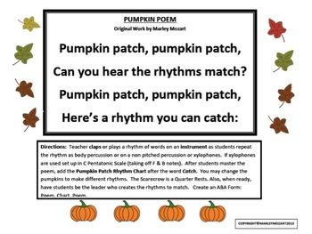 PUMPKIN PATCH POEM AND RHYTHM ACTIVITY