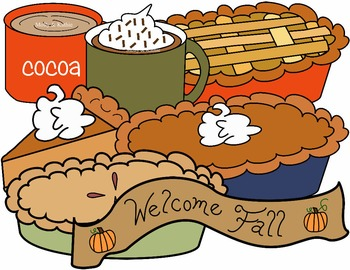 PIE CLIP ART * COLOR AND BLACK AND WHITE