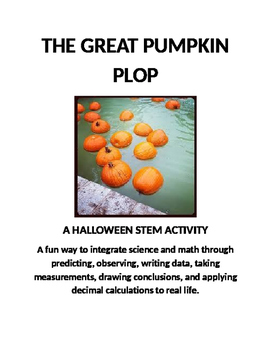 PUMPKIN PLOP S.T.E.M. Activity