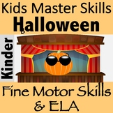 Halloween Fine Motor and ELA Rhyming Activity - PUMPKIN POETS!
