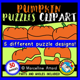 PUMPKIN PUZZLES CLIPART TEMPLATE (AUTUMN OR FALL CLIPART)