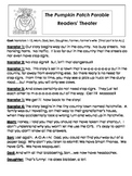 PUMPKIN Readers' Theater Packet! (Pumpkin Parable & Spookley the Square Pumpkin)