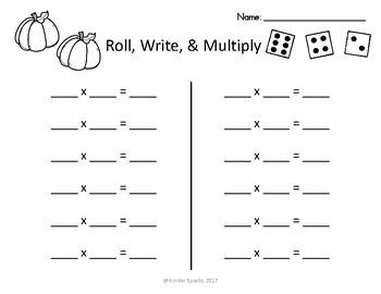 PUMPKIN- Roll, Write, Multiply