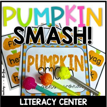 PUMPKIN SMASH! sight word, cvc, nonsense word, and letter/sound practice