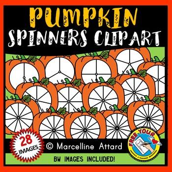 PUMPKIN SPINNERS CLIPART: FALL CLIPART: PUMPKINS CLIPART: AUTUMN CLIPART
