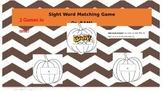 PUMPKIN: Sight Word Matching & BAM! Games