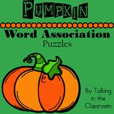 PUMPKIN WORD ASSOCIATION PUZZLES