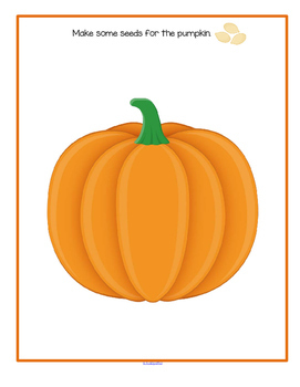 PUMPKINS Theme Math and Literacy Centers Printables and Activities for Preschool