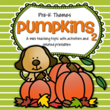PUMPKINS Theme Unit Activities, Printables and Centers for