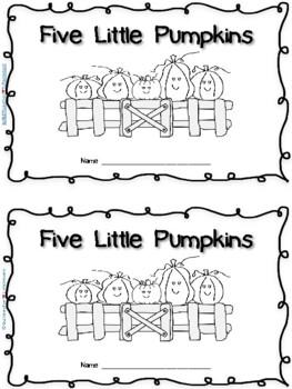 PUMPKINS!  2 emergent readers: 5 Little Pumpkins and The Little Seed