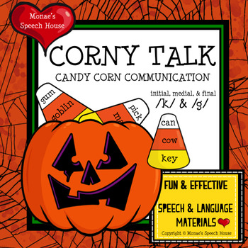 PUMPKINS CANDY CORN SPEECH THERAPY worksheets /k/ & /g/